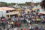 Gypsy annual Horse Fair. Wickham Hampshire UK. Overall view of town square. Position thanks to Bob Aylott photographer, at Fareham Town Photographic Studio. Hampshire