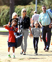 Heidi Klum with her kids & parents in Los Angeles