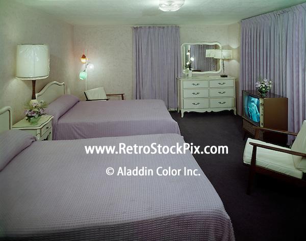 El Ray Motel, Wildwood, NJ. 1960's Motel Room