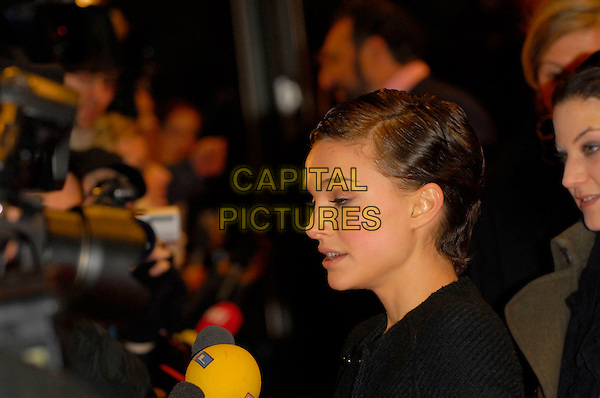 "NATALIE PORTMAN.Premiere of ""V for Vendetta"" at the 56th Berlin (Berlinale) Film Festival, Berlin, Germany..February 13th, 2006.Ref: KRA.headshot portrait profile eyes closed funny.www.capitalpictures.com.sales@capitalpictures.com.©Capital Pictures"