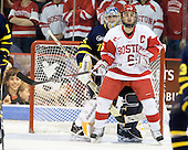 Joe Cannata (Merrimack - 35), Joe Pereira (BU - 6) - The visiting Merrimack College Warriors tied the Boston University Terriers 1-1 on Friday, November 12, 2010, at Agganis Arena in Boston, Massachusetts.