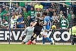 St Johnstone v Celtic&hellip;20.08.16..  McDiarmid Park  SPFL<br />James Forrest scores the third goal<br />Picture by Graeme Hart.<br />Copyright Perthshire Picture Agency<br />Tel: 01738 623350  Mobile: 07990 594431