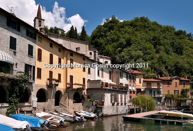 The town of Oria on the Italian side of Lake Lugano.
