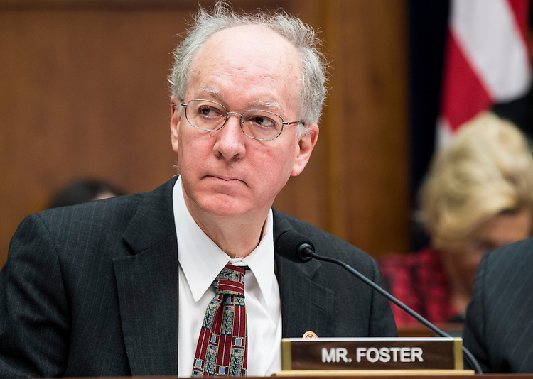 UNITED STATES - FEBRUARY 2: Rep. Bill Foster, D-Ill., participates in the House Financial Services Committee meeting to organize for the 115th Congress on Thursday, Feb. 2, 2017. (Photo By Bill Clark/CQ Roll Call)