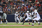 Ole Miss quarterback Randall Mackey (1) runs against Southern Illinois cornerback James McFadden (24) at Vaught-Hemingway Stadium in Oxford, Miss. on Saturday, September 10, 2011.