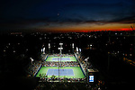 People attend the USOPEN tournament in New York