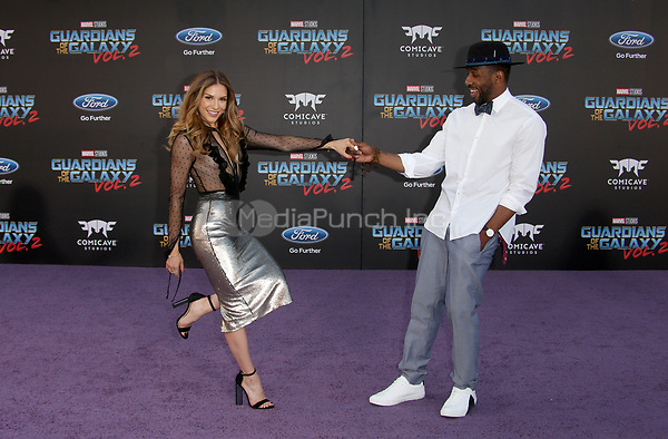 """HOLLYWOOD, CA - April 19: Allison Holker, Stephen 'tWitch' Boss, At Premiere Of Disney And Marvel's """"Guardians Of The Galaxy Vol. 2"""" At The Dolby Theatre  In California on April 19, 2017. Credit: FS/MediaPunch"""