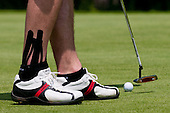 Legs of Anze Kopitar, ice hockey player for LA Kings, two months after injury of his ankle at Anze's Eleven and SKB Charity Golf Tournament, on June 11, 2011 in Golf court Bled, Slovenia. (Photo by Matic Klansek Velej / Sportida)
