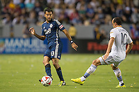 CARSON, CA - August 23, 2014: LA Galaxy vs Vancouver Whitecaps match at the StubHub Center in Carson, California. Final score, LA Galaxy 2, Vancouver Whitecaps 0.