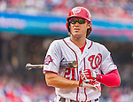 30 August 2015: Washington Nationals outfielder Matt den Dekker steps up to the plate to pinch hit in the 8th inning against the Miami Marlins at Nationals Park in Washington, DC. The Nationals rallied to defeat the Marlins 7-4 in the third game of their 3-game weekend series. Mandatory Credit: Ed Wolfstein Photo *** RAW (NEF) Image File Available ***