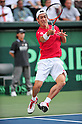 Kei Nishikori (JPN), SEPTEMBER 16, 2011 - Tennis : Davis Cup by BNP Paribas 2011 World Group play-off match Kei Nishikori(JPN) 3(6-3 6-2 6-2)0 Rohan Boppana (IND) at Ariake Colosseum, Tokyo, Japan. (Photo by Jun Tsukida/AFLO SPORT) [0003]