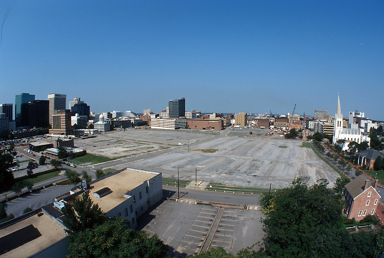 1996 August 26..Redevelopment..Macarthur Center.Downtown North (R-8)..PROGRESS.SUPERWIDE VIEW.LOOKING WEST FROM ROTUNDA BUILDING.FREEMASON STREET ON RIGHT...NEG#.NRHA#..