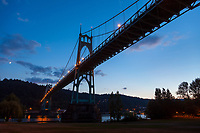 St St. John's Bridge in Portland Oregon