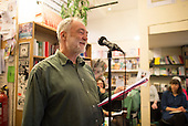 Michael Fielding, Professor at the Institute of Education, speaking at the event to discuss Leila Berg's contribution to radical education and children's lives, Houseman's bookshop, London, 22nd May 2013.