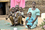 A family in a camp for internally displaced people outside Um Labassa in Sudan's Darfur region.