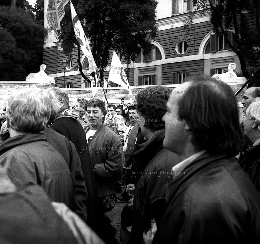Roma 5 Dicembre 1999.<br /> Manifestazione della Lega Nord per la Devolution. Umberto Bossi<br /> Rome, Dec. 5, 1999.<br /> Manifestation of the Northern League for Devolution