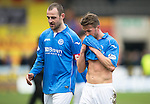 Partick Thistle v St Johnstone.....14.03.15<br /> Dave Mackay and Chris Millar leave the pitch at full time<br /> Picture by Graeme Hart.<br /> Copyright Perthshire Picture Agency<br /> Tel: 01738 623350  Mobile: 07990 594431