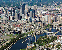 aerial photograph Minneapolis, MN