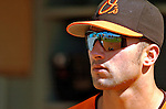 5 March 2006: Nick Markakis, outfielder for the Baltimore Orioles, in the dugout prior to a Spring Training game against the Washington Nationals. The Nationals defeated the Orioles 10-6 at Space Coast Stadium, in Viera Florida...Mandatory Photo Credit: Ed Wolfstein..