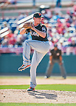 7 March 2016: Miami Marlins pitcher Brian Ellington on the mound during a Spring Training pre-season game against the Washington Nationals at Space Coast Stadium in Viera, Florida. The Nationals defeated the Marlins 7-4 in Grapefruit League play. Mandatory Credit: Ed Wolfstein Photo *** RAW (NEF) Image File Available ***