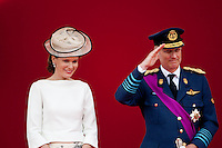 Princess Mathilde of Belgium and Crown Prince Philippe - National Day
