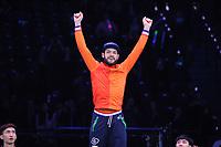 SHORT TRACK: ROTTERDAM: Ahoy, 11-03-2017, KPN ISU World Short Track Championships 2017, Podium 500m Men, Sjinkie Knegt (NED), ©photo Martin de Jong