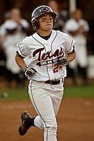 SAN ANTONIO, TX - APRIL 4, 2008: The Texas State University Bobcats vs. The University of Texas at San Antonio Roadrunners Softball at Roadrunner Field. (Photo by Jeff Huehn)