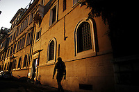 Italy, Rome, November 2, 2011..General view of a building in Rome November2 , 2011. VIEWpress / Eduardo Munoz Alvarez..Rome is the capital of Italy and the country's largest and most populated city and comune, with over 2.7 million residents in 1,285.3 km2 (496.3 sq mi). The city is located in the central-western portion of the Italian Peninsula, on the Tiber River within the Lazio region of Italy.