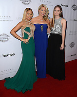 LOS ANGELES, CA, USA - NOVEMBER 08: Kat DeLuna, Erica Greve, Liana Liberato arrive at the Unlikely Heroes' 3rd Annual Awards Dinner And Gala held at the Sofitel Hotel on November 8, 2014 in Los Angeles, California, United States. (Photo by Celebrity Monitor)