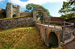 Carisbrooke Castle. Moat Photographs of the Isle of Wight by photographer Patrick Eden