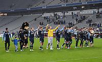 Fussball 2. Bundesliga:  Saison   2012/2013,    16. Spieltag  TSV 1860 Muenchen - SC Paderborn  27.11.2012 Benjamin Lauth, Moritz Volz und Torwart Gabor Kiraly (v. li., 1860 Muenchen)