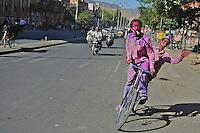 The festival celebrated all over India the Holi Festival Jaipur India