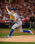 13 October 2016: Los Angeles Dodgers pitcher Joe Blanton on the mound during the NLDS Game 5 against the Washington Nationals at Nationals Park in Washington, DC. The Dodgers edged out the Nationals 4-3, to take Game 5, and the Series, 3 games to 2, moving on to the National League Championship against the Chicago Cubs. Mandatory Credit: Ed Wolfstein Photo *** RAW (NEF) Image File Available ***