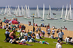 The Green, Spectators, Yacht Racing, Cowes Week, Cowes, Isle of Wight, England, UK, Photographs of the Isle of Wight by photographer Patrick Eden