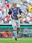 8 March 2012: Boston Red Sox catcher Jarrod Saltalamacchia in action during a Spring Training game against the St. Louis Cardinals at Roger Dean Stadium in Jupiter, Florida. The Cardinals defeated the Red Sox 9-3 in Grapefruit League action. Mandatory Credit: Ed Wolfstein Photo