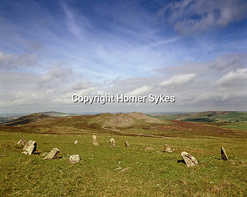 Beddarthur Bedd Arthur or Arthurs Grave Stone Circle, Prescelly Mountains, Nr Crymych Pembrokshire Wales. Celtic Britain published by Orion