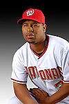 25 February 2007: Washington Nationals pitcher Jermaine Van Buren poses for his Photo Day portrait at Space Coast Stadium in Viera, Florida.<br /> <br /> Mandatory Photo Credit: Ed Wolfstein Photo<br /> <br /> Note: This image is available in a RAW (NEF) File Format - contact Photographer.
