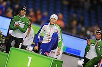 SCHAATSEN: HEERENVEEN: IJsstadion Thialf, 29-12-2012, Seizoen 2012-2013, KPN NK allround, podium 1500m Dames, Ireen Wüst, Jorien ter Mors, ©foto Martin de Jong