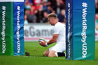 Harry Mallinder of England U20 scores his second try of the match. World Rugby U20 Championship Final between England U20 and Ireland U20 on June 25, 2016 at the AJ Bell Stadium in Manchester, England. Photo by: Patrick Khachfe / Onside Images