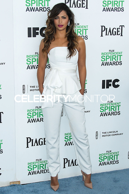 SANTA MONICA, CA, USA - MARCH 01: Camila Alves at the 2014 Film Independent Spirit Awards held at Santa Monica Beach on March 1, 2014 in Santa Monica, California, United States. (Photo by Xavier Collin/Celebrity Monitor)