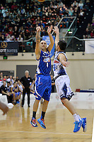 Lindsay Tait in action during the NBL - Wellington Saints v Nelson Giants at TSB Bank Arena, Queens Wharf, Wellington, New Zealand on Friday  2 May 2014. <br /> Photo by Masanori Udagawa. <br /> www.photowellington.photoshelter.com.