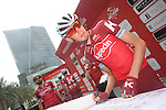 Ilnur Zakarin (RUS) Katusha-Alpecin at sign on before the start of Stage 2 the Nation Towers Stage of the 2017 Abu Dhabi Tour, running 153km around the city of Abu Dhabi, Abu Dhabi. 24th February 2017<br /> Picture: ANSA/Claudio Peri | Newsfile<br /> <br /> <br /> All photos usage must carry mandatory copyright credit (&copy; Newsfile | ANSA)