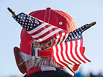 Two US flags hang out of a hat<br /> <br /> Photographer Ian Cook/CameraSport<br /> <br /> International Golf - 2014 Ryder Cup - Day 1 - Friday 26th September 2014 - PGA Centenary Course - Gleneagles Hotel - Auchterarder, Scotland<br /> <br /> &copy; CameraSport - 43 Linden Ave. Countesthorpe. Leicester. England. LE8 5PG - Tel: +44 (0) 116 277 4147 - admin@camerasport.com - www.camerasport.com