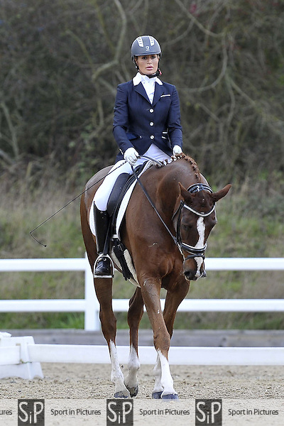 Class 4. Novice 39. British Dressage. Brook Farm Training Centre. Essex. 27/11/2015. MANDATORY Credit Garry Bowden/Sportinpictures - NO UNAUTHORISED USE - 07837 394578
