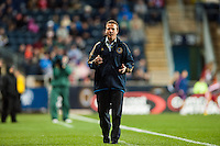 Philadelphia Union manager John Hackworth. The Philadelphia Union defeated the Chicago Fire 1-0 during a Major League Soccer (MLS) match at PPL Park in Chester, PA, on May 18, 2013.