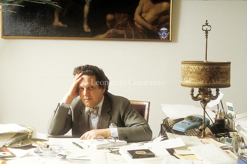 Philippe Daverio, art critic. © Leonardo Cendamo