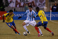 Argentina soccer player Javier Pastore fights for the ball during a friendly match between Argentina and Ecuador in New Jersey. 03.31.2015. Kena Betancur / VIEWpress.