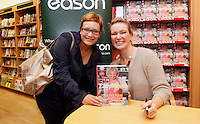 """*** NO FEE PIC ***.01/10/2011.Eason Ireland's leading retailer of books stationery, magazines & lots more hosted a book sigining by best selling cookery writer & TV cook Rachel Allen who signed copies of her new book """" Easy Meals"""" for fan Barbora Tomeckova from the City Centre .at Eason O' Connell St, Dublin..Photo: Gareth Chaney Collins"""