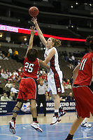 18 March 2006: Kristen Newlin during Stanford's 72-45 win over Southeast Missouri State in the first round of the NCAA Women's Basketball championships at the Pepsi Center in Denver, CO.