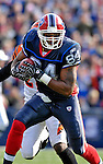 4 November 2007: Buffalo Bills tight end Robert Royal in action against the Cincinnati Bengals at Ralph Wilson Stadium in Orchard Park, NY. The Bills defeated the Bengals 33-21 in front of a sellout crowd of 70,745...Mandatory Photo Credit: Ed Wolfstein Photo